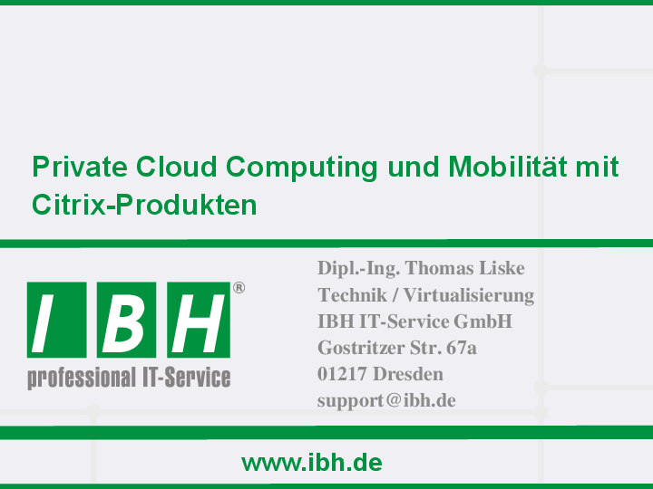 IBH Private Cloud Services