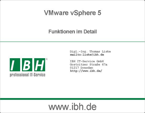 vSphere 5 - Funktionen im Detail