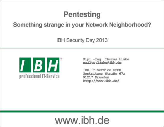 Pentesting - Something strange in your Network Neighborhood?